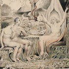 """Raphael Warns Adam and Eve"" Illustrations to Milton's ""Paradise Lost"", object 6 William Blake, 1808. Courtesy of Wikimedia Commons."