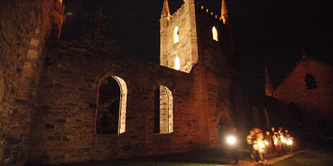 Ghost Tour.  Photographer: Simon Birch; image courtesy Port Arthur Historic Site Management Authority.