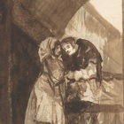 goya woman whispering to priest
